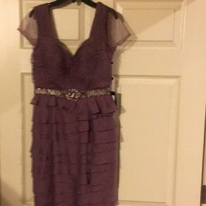 Adrianna Papell Purple Dress Size 2 BNWT